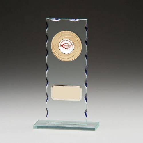 Jade Velocity Glass Plaque 190mm